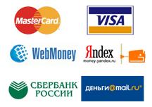 мы принимаем к оплате электронные деньги